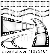Clipart Film Strip Borders And Design Elements Royalty Free Vector Illustration by dero