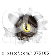 Clipart Monsters Eye Peeking Through A Ripped Hole Royalty Free Vector Illustration