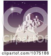 Christmas Star Shining Over Bethlehem On A Purple Night