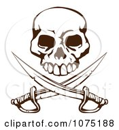 Pirate Skull Over Crossed Swords