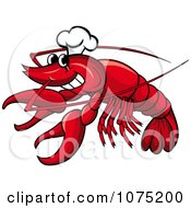 Clipart Seafood Lobster Chef Logo Royalty Free Vector Illustration