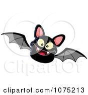 Clipart Black Vampire Bat Flying Royalty Free Vector Illustration
