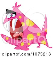 Clipart Pink Screaming Monster Royalty Free Vector Illustration by yayayoyo