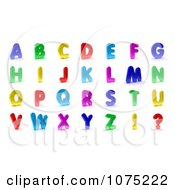 Clipart 3d Colorful Alphabet Magnet Capital Letters Royalty Free CGI Illustration by stockillustrations