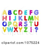 3d Colorful Refrigerator Magnet Capital Letters