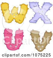 Plush Alphabet Letters U Through X