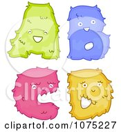 Clipart Plush Alphabet Letters A Through D Royalty Free Vector Illustration