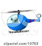 Male Helicopter Pilot Flying Clipart Illustration by djart