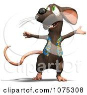 Clipart 3d Cute Happy Rat Wearing A Vest Royalty Free CGI Illustration