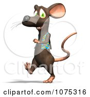 Clipart 3d Cute Walking Rat Wearing A Vest Royalty Free CGI Illustration