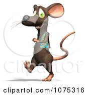 Clipart 3d Cute Walking Rat Wearing A Vest Royalty Free CGI Illustration