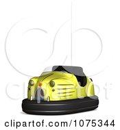 Clipart 3d Yellow Bumper Car Royalty Free CGI Illustration
