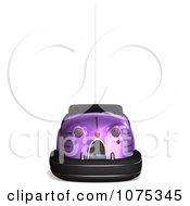 Clipart 3d Purple Bumper Car Royalty Free CGI Illustration