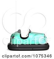 Clipart 3d Green Bumper Car Royalty Free CGI Illustration