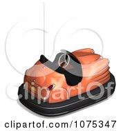 Clipart 3d Orange Bumper Car Royalty Free CGI Illustration