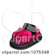 Clipart 3d Pink Bumper Car Royalty Free CGI Illustration