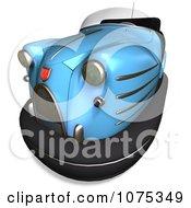 Clipart 3d Blue Bumper Car Royalty Free CGI Illustration