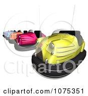 Clipart 3d Bumper Cars 2 Royalty Free CGI Illustration