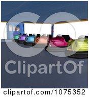 Clipart 3d Bumper Cars 3 Royalty Free CGI Illustration