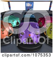 Clipart 3d Bumper Cars 4 Royalty Free CGI Illustration