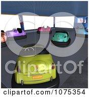Clipart 3d Bumper Cars 5 Royalty Free CGI Illustration