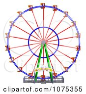 Clipart 3d Wheel Of Fun Ferris Wheel Carnival Ride 1 Royalty Free CGI Illustration