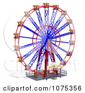 Clipart 3d Wheel Of Fun Ferris Wheel Carnival Ride 2 Royalty Free CGI Illustration