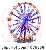 Clipart 3d Wheel Of Fun Ferris Wheel Carnival Ride 2 Royalty Free CGI Illustration