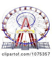 Clipart 3d Wheel Of Fun Ferris Wheel Carnival Ride 3 Royalty Free CGI Illustration