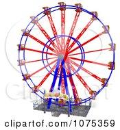 Clipart 3d Wheel Of Fun Ferris Wheel Carnival Ride 5 Royalty Free CGI Illustration