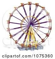 Clipart 3d Wheel Of Fun Ferris Wheel Carnival Ride 6 Royalty Free CGI Illustration