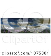 Clipart 3d Shack And Wildflower Mountainous Panoramic Landscape Royalty Free CGI Illustration by Ralf61