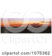 Clipart 3d Mountainous Desert Panoramic Landscape Royalty Free CGI Illustration
