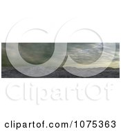 Clipart 3d Mountainous Panoramic Landscape Royalty Free CGI Illustration