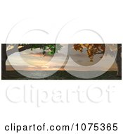 Clipart 3d Maple Trees And Panoramic Landscape Royalty Free CGI Illustration