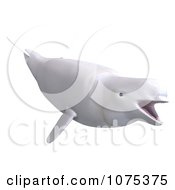 Clipart 3d White Female Beluga Whale 3 Royalty Free CGI Illustration