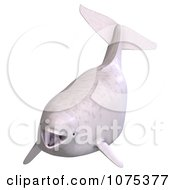 Clipart 3d White Juvenile Beluga Whale 1 Royalty Free CGI Illustration