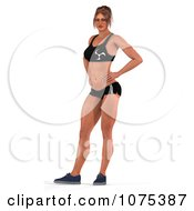 Clipart 3d Health Fit And Strong Athletic Woman Standing Royalty Free CGI Illustration by Ralf61