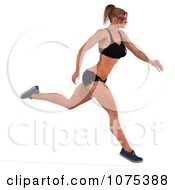 Clipart 3d Health Fit And Strong Athletic Woman Running 1 Royalty Free CGI Illustration by Ralf61