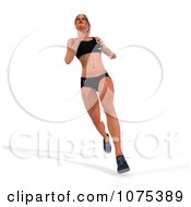 Clipart 3d Health Fit And Strong Athletic Woman Running 2 Royalty Free CGI Illustration by Ralf61