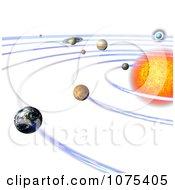 Clipart 3d Solar System 4 Royalty Free CGI Illustration