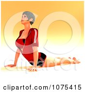 Clipart 3d Yoga Woman In A Pose 1 Royalty Free CGI Illustration by Ralf61