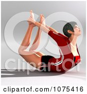 Clipart 3d Yoga Woman In A Pose 2 Royalty Free CGI Illustration by Ralf61