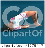 Clipart 3d Yoga Woman In A Pose 3 Royalty Free CGI Illustration by Ralf61