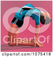 Clipart 3d Yoga Woman In A Pose 4 Royalty Free CGI Illustration by Ralf61