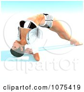 Clipart 3d Yoga Woman In A Pose 5 Royalty Free CGI Illustration by Ralf61