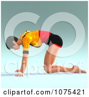 Clipart 3d Yoga Woman In A Pose 7 Royalty Free CGI Illustration by Ralf61