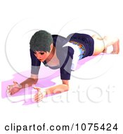 Clipart 3d Yoga Woman In A Pose 11 Royalty Free CGI Illustration by Ralf61