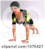 Clipart 3d Yoga Woman In A Pose 14 Royalty Free CGI Illustration by Ralf61