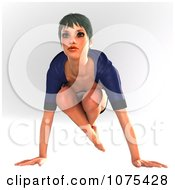 Clipart 3d Yoga Woman In A Pose 15 Royalty Free CGI Illustration by Ralf61